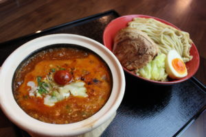 海老つけ麺(トマト)