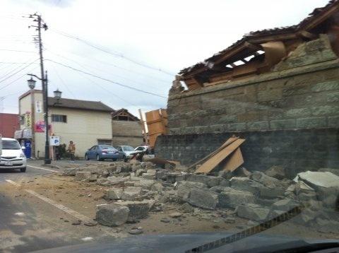 震災後の浪江町