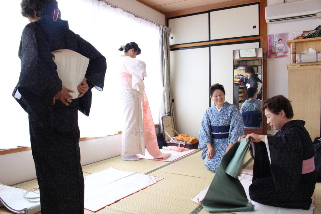 伊藤千恵子きもの教室 教室の様子