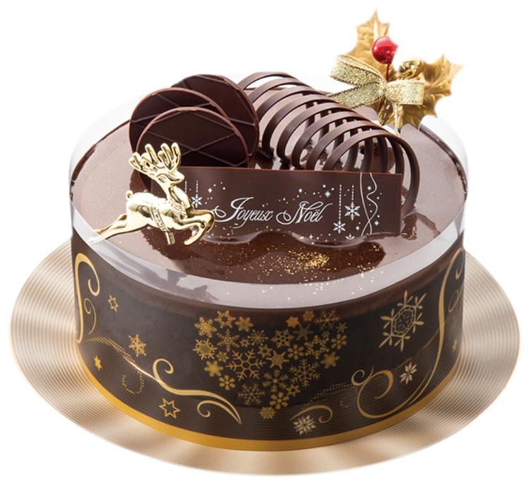 フランス産ショコラ入りムースのプレミアムクリスマスケーキ