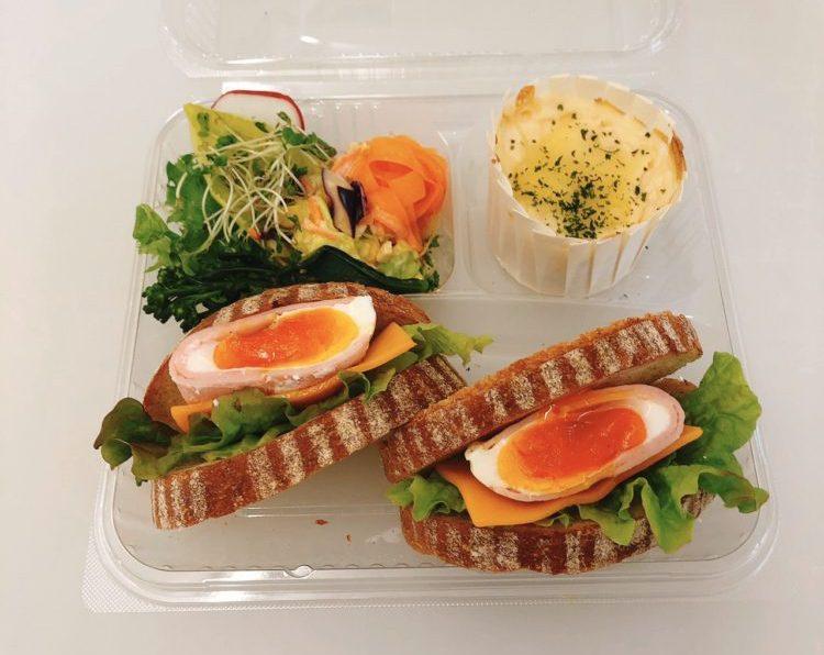 御養卵ハムタマサンドセット