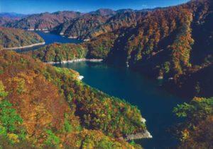 田子倉湖 紅葉