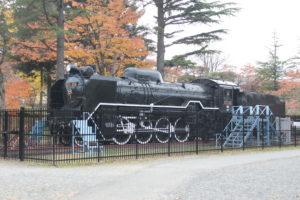 開成山公園の蒸気機関車(D51)